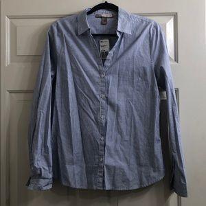 Striped woven blouse